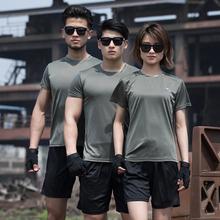盾郎夏ta军训迷彩服ni短袖 特种兵军迷T恤透气体能训练服速干