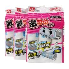 日本LtaC滚筒可撕ni纸粘毛滚筒卷纸衣物除粘尘纸替换装
