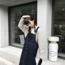 馨帮帮ta春季新式宽ni2020直筒韩款(小)个子连衣裙女