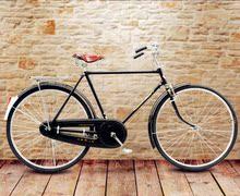 自行车ta6/28��en古老式男自行车老式车