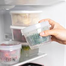 日本进ta冰箱葱花收jd姜蒜密封沥水保鲜盒蔬菜迷你葱蒜姜(小)碗