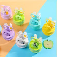 婴儿指ta剪新生儿宝ge刀套装防夹肉指甲钳宝宝指甲锉安全剪刀