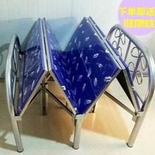 折叠床ta固单的双的hu木板欧式午休1米1.2米1.5米四折床