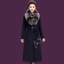 名牌高ta品质中年女xu大衣中老年妈妈风衣呢子大码毛呢外套女