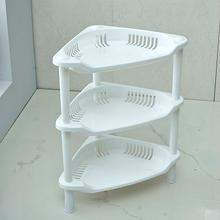 [tbcw]浴室三层三角置物架厨房塑料落地角