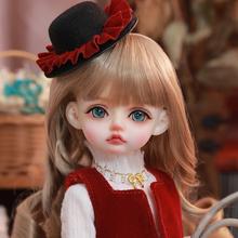 6分bjd女娃娃 Sartb9h 莎拉jz脂仿真球关节的偶儿童玩具惊喜礼物