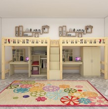 公寓床tb生宿舍床上ws组合床实木双层柜书桌多功能单的床连体