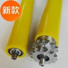 无链轮te锌托滚输送ct滚轴不锈钢托辊流水线动力g滚筒传送厂