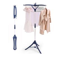 晾衣架te地折叠室内hf简易卧室挂衣架阳台伸缩(小)型晒衣架迷你
