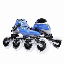 宝宝可te专业溜冰鞋kz热塑碳纤旱冰直排滑轮鞋大轮洛神