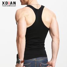 男士工字背心纯棉运动健身紧身te11身型二tz夏季外穿健美潮