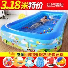 加高(小)孩游泳馆打气充气泳池户te11玩具女tz洗澡婴儿新生室