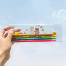 彩虹之te 泫雅风Pst明可爱学生笔袋 女生清新简约文具盒
