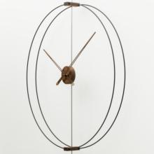 家用艺te静音创意轻pa牙极简样板间客厅实木超大指针挂钟表