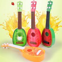 创意儿te水果吉他玩pa里里仿真(小)吉他乐器玩具批发地摊货热卖