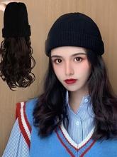 大圆脸适合的羊毛卷假发帽子新式20te140网红pt冬季女士百搭