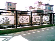 厂欧式te生铁锈楼梯pt飘窗钢化玻璃护栏/阁楼走廊阳台艺术栏杆