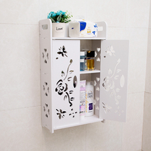 卫生间te室置物架厕es孔吸壁式墙上多层洗漱柜子厨房收纳挂架