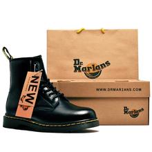 Dr.tearianit靴男女真皮机车靴情侣1460复古经典8孔短靴高帮靴