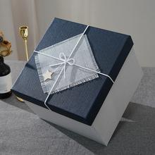 正方形te品盒超大伴it物盒大号礼物包装盒生日送礼盒包装盒子