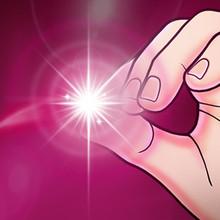 魔术8te00 光能en星 拇指灯 手指灯 魔术玩具