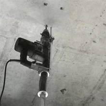 折叠打眼te降款支架工en升降杆冲击钻天花板打孔机吊顶