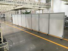移动屏te带滑轮高隔en室隔墙折叠屏风高隔间活动板式隔断