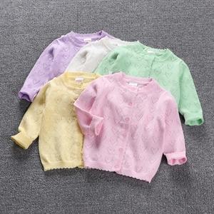 精灵女童春夏装新款婴儿针织<span class=H>开衫</span>纯棉薄款宝宝空调衫外套防晒衣服