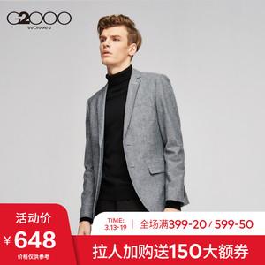 G2000<span class=H>男裝</span>時尚易理棉質西服 冬季新款商務休閑上班灰色西裝