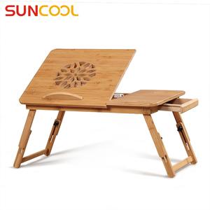 阳光谷 床上笔记本电脑桌 创意折叠楠竹小<span class=H>书桌</span> 大学生简易懒人桌