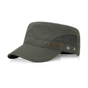 薄料平顶帽军帽欧码遮阳帽户外防水速干加大头帽子男女士夏季韩版