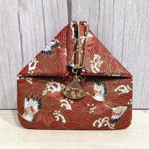 饭团口金包 小迷你包收纳袋新款扇形日式复古和风 原创手工零钱包