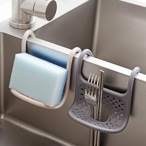 日本水槽挂篮沥水篮家用厨房用品多用水池海绵洗碗布收纳架沥水架