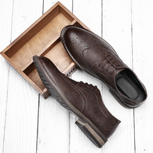 New Summer Men's Korean Block Carved Leather Shoes British Suit Business Leisure Wedding Breathable Groom Shoes