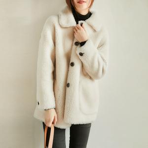 の[DY127082VL] 笑涵阁 棉花糖般的朱砂橘!时尚率性短款羊毛外套