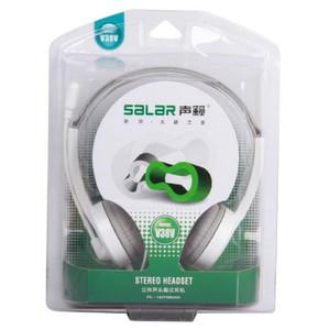 Salar/声籁 V38V <span class=H>耳机</span>头戴式 耳麦 V38 音乐<span class=H>耳机</span> 重低音 单孔带麦