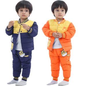 婴儿童装羽绒服外套1-3岁女宝宝男童装冬装羽绒<span class=H>内胆</span>套装女加厚秋