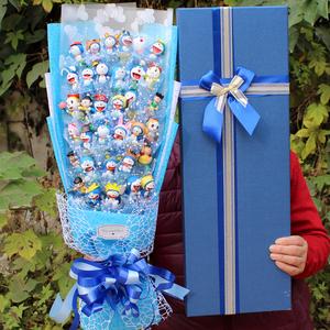 多啦a梦公仔情人节蓝胖子送女朋友闺蜜创意特别生日礼物儿子男孩