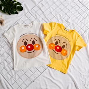 ins<span class=H>親子裝</span>日本面包超人<span class=H>童裝</span>嬰兒短袖純棉T恤男童寶寶小童上衣夏季