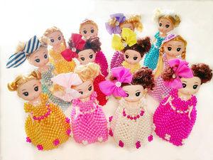 串珠编织创意家居玩具<span class=H>摆件</span><span class=H>饰品</span>DIY手工迷糊芭比娃娃成品
