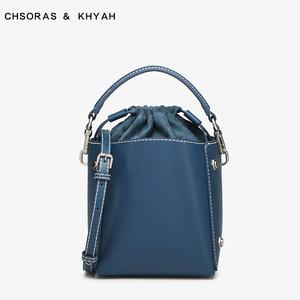 新加坡小ck新款女包ck2-10780730欧美金属铆钉装饰女士立体水桶包