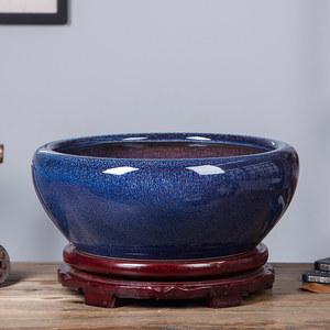 陶瓷鱼缸小号金鱼乌龟缸养荷花睡莲碗盆客厅摆件桌面鱼盆