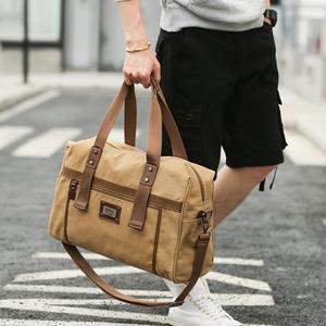韩版手提包<span class=H>男包</span>休闲户外男士背包单肩斜挎包大容量<span class=H>旅行包</span>行李包袋