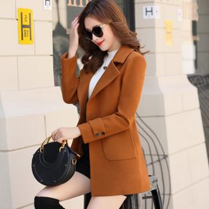 毛呢外套女短款2018春秋装新款修身气质时尚小矮个子薄款呢子大衣