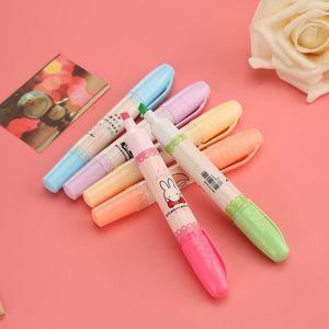 包邮6色重点荧光笔套装笔学生用<span class=H>记号笔</span>彩色香味笔标记套装划线笔