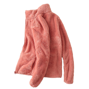 户外加厚双面绒抓绒衣摇粒绒保暖抓绒外套女男上衣珊瑚绒开衫绒衣
