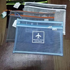 简约A4双层课本文件袋拉链袋透明<span class=H>档案袋</span>学生商务试卷资料收纳袋