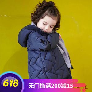 韩国代购童装正品2018冬新款儿童<span class=H>羽绒服</span>男童女童中长款小男孩外套