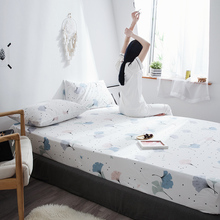 Xiao Qingxin Bedscap Single Cotton Bedscape Slip-proof Simmons Protective Cover Single and Double Dormitory Mattress Cover Pure Cotton