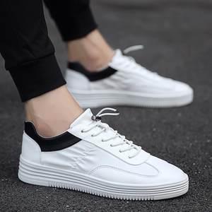 男鞋小白<span class=H>板鞋</span>男夏天懒人新款韩版纯色简单男式运动款百搭踏步单鞋